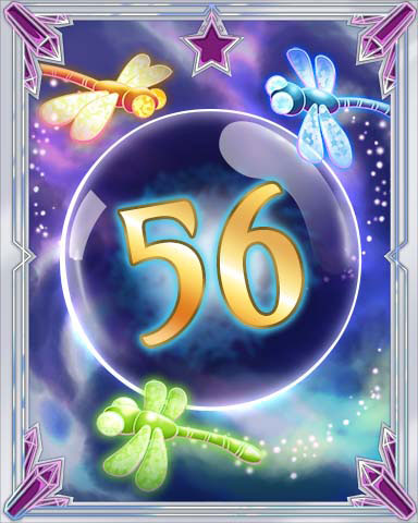 Magic Dragonfly 56 Badge - Tri-Peaks Solitaire HD