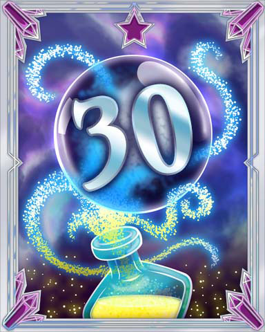 Elixir Bottle 30 Badge - Jet Set Solitaire