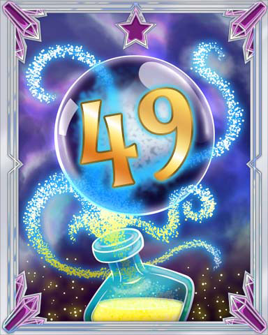 Elixir Bottle 49 Badge - Tri-Peaks Solitaire HD