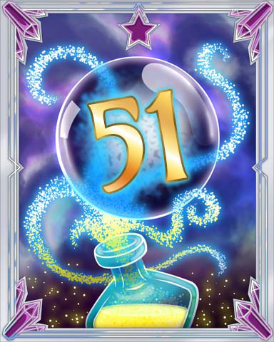 Elixir Bottle 51 Badge - Tri-Peaks Solitaire HD