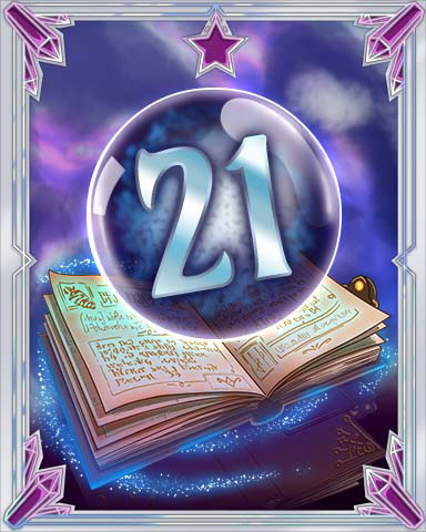 Spellbook Vol. 21 Badge - Solitaire Gardens