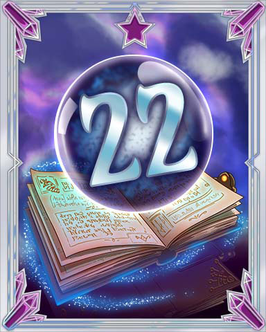 Spellbook Vol. 22 Badge - Solitaire Gardens