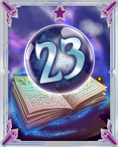 Spellbook Vol. 23 Badge - Solitaire Gardens
