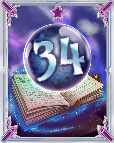 Spellbook Vol. 34 Badge - Jet Set Solitaire