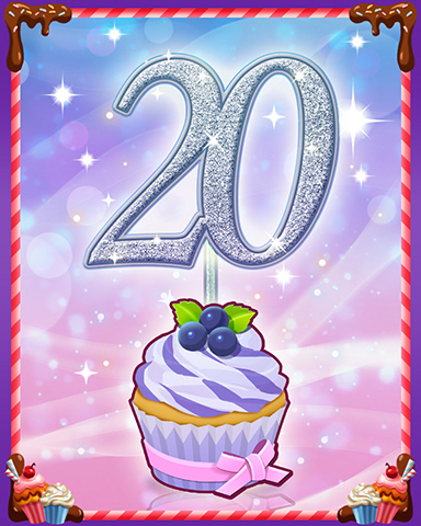 Vanilla Cupcake #20 Badge - Quinn's Aquarium