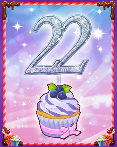 Vanilla Cupcake #22 Badge - Quinn's Aquarium