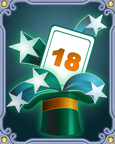 Spring Magic Lap 18 Badge - Jet Set Solitaire