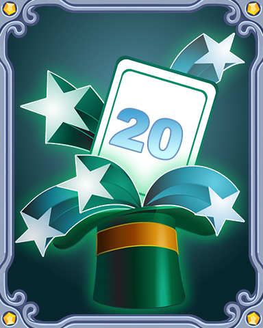 Spring Magic Lap 20 Badge - Poppit! Bingo