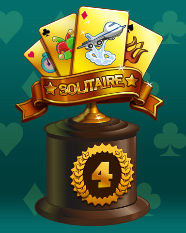 Golden Hand Lap 4 Badge - Jet Set Solitaire
