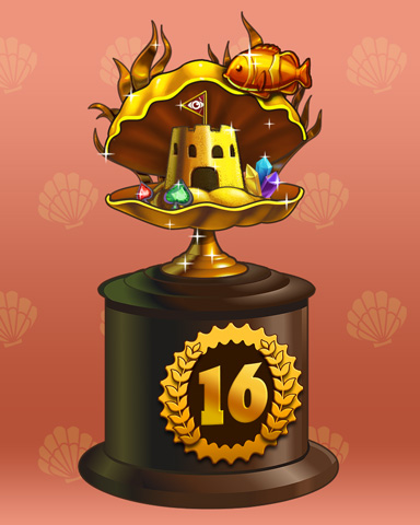 Clamshell Castle Lap 16 Badge - Spades HD