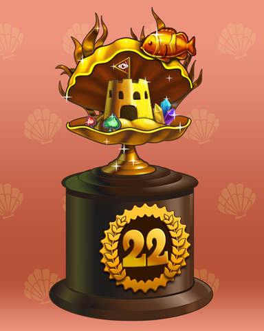 Clamshell Castle Lap 22 Badge - Tri-Peaks Solitaire HD