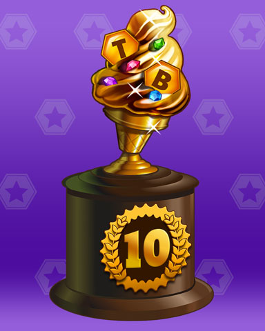 Golden Cone Lap 10 Badge - World Class Solitaire HD