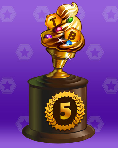 Golden Cone Lap 5 Badge - Mahjong Safari HD