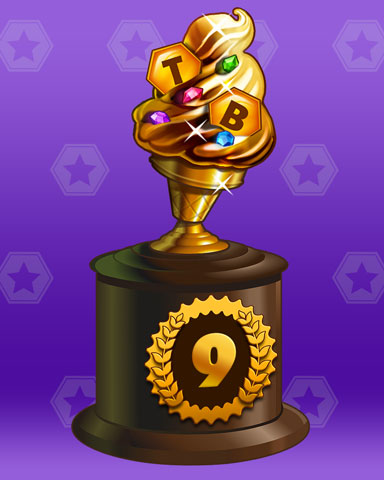 Golden Cone Lap 9 Badge - Tumble Bees HD