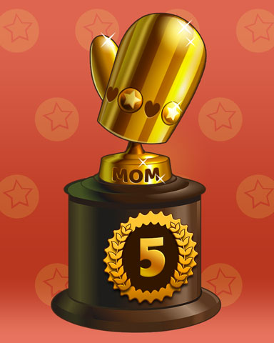 Marvelous Moms Lap 5 Badge - Mahjong Garden HD