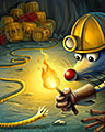 Fire In The Hole Badge - Sudoku Puzzle Blast