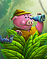 Porky Peek Badge - Undiscovered World