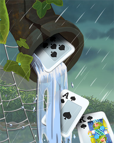 Soggy Spades Badge - Rainy Day Spider Solitaire HD