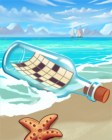 Crossword In A Bottle Badge - Crossword Cove HD