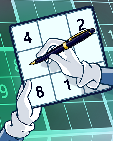Finding The Solution Badge - Pogo Daily Sudoku