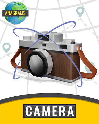 Anagrams Camera Badge - Anagrams