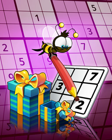 Buzzing Numbers Badge - Pogo Daily Sudoku