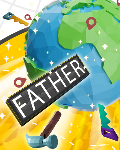 Worldly Father Badge - Anagrams