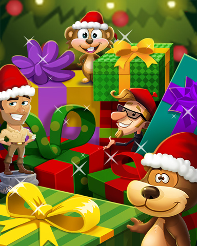 Holiday Buddies Badge - Pogo Addiction Solitaire HD