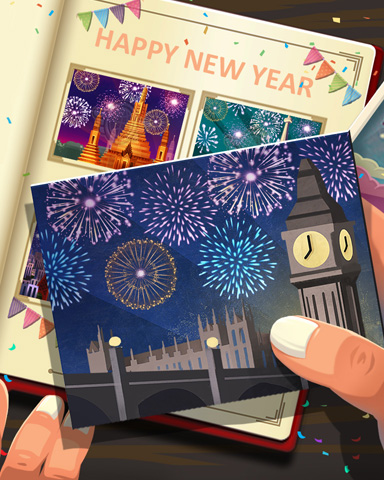 London New Years Badge - StoryQuest