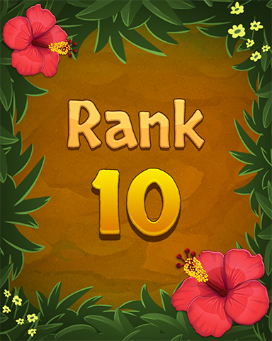 Rank 10 Badge - Mahjong Sanctuary
