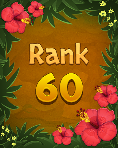 Rank 60 Badge - Mahjong Sanctuary