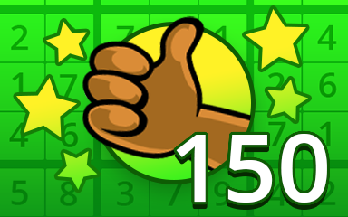 No Mistake 150 Badge - Pogo Daily Sudoku
