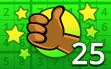 No Mistake 25 Badge - Pogo Daily Sudoku