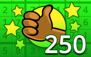 No Mistake 250 Badge - Pogo Daily Sudoku