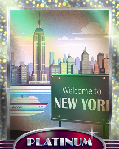 See You In New York Platinum Badge - Cross Country Adventure