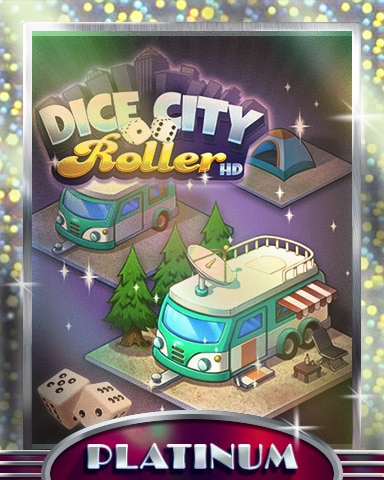 City Campground Platinum Badge - Dice City Roller HD