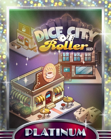 City Coffee Shop Platinum Badge - Dice City Roller HD