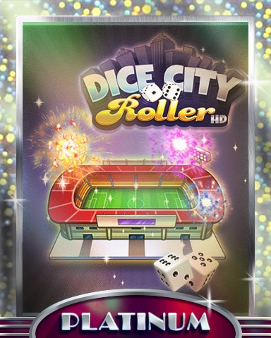 City Stadium Platinum Badge - Dice City Roller HD