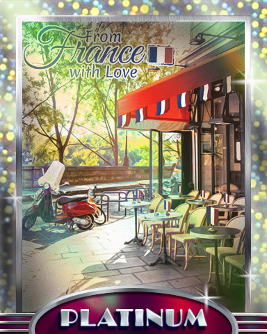Paris Café Platinum Badge - From France With Love