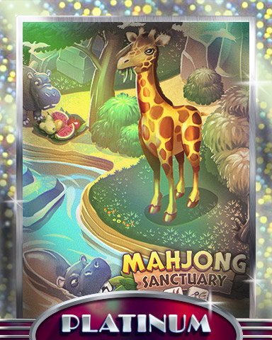 Giraffes & Hippos Platinum Badge - Mahjong Sanctuary