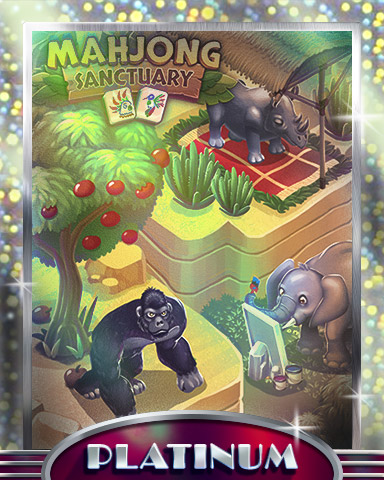 Gorillas & Elephants Platinum Badge - Mahjong Sanctuary