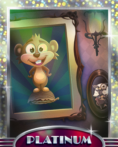 Nestor & Sir Feathersworth Platinum Badge - Pogo Addiction Solitaire HD
