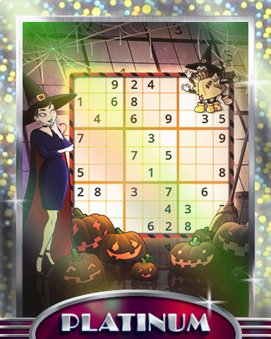 Scary Numbers Platinum Badge - Pogo Daily Sudoku