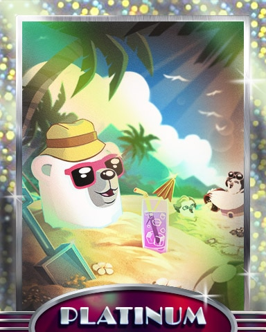 Buried Bear Platinum Badge - Snowbird Solitaire