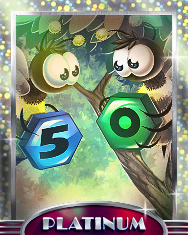 Nifty Fifty Platinum Badge - Tumble Bees HD
