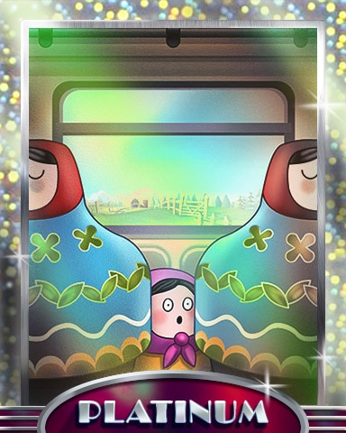 Crowded Train Platinum Badge - Trizzle