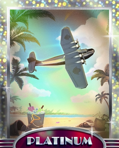 Beach Flyover Platinum Badge - World Class Solitaire HD