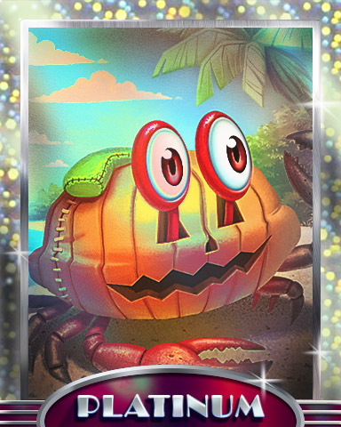 Beach Pumpkin Badge - Crossword Cove HD