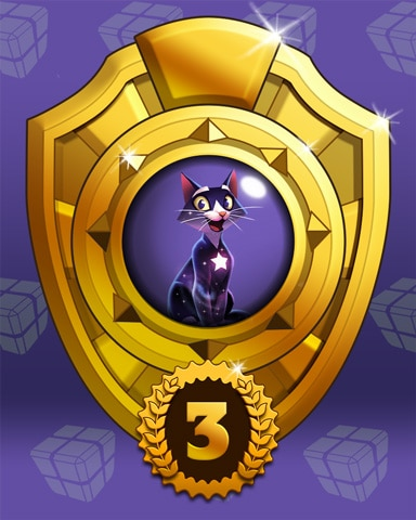 Fast Like Felis Lap 3 Badge - Bejeweled Stars