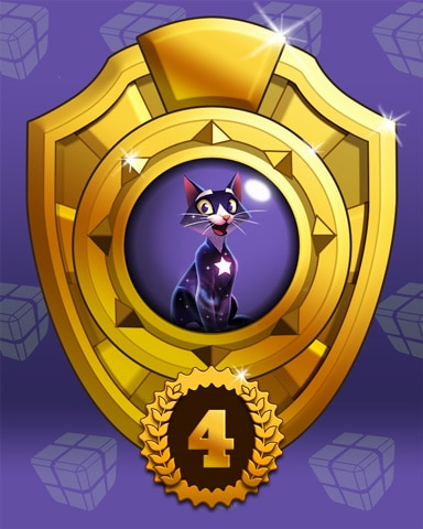 Fast Like Felis Lap 4 Badge - Bejeweled Stars
